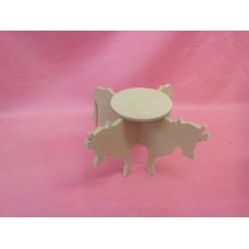 6mm MDF Cow Plat pot Holder